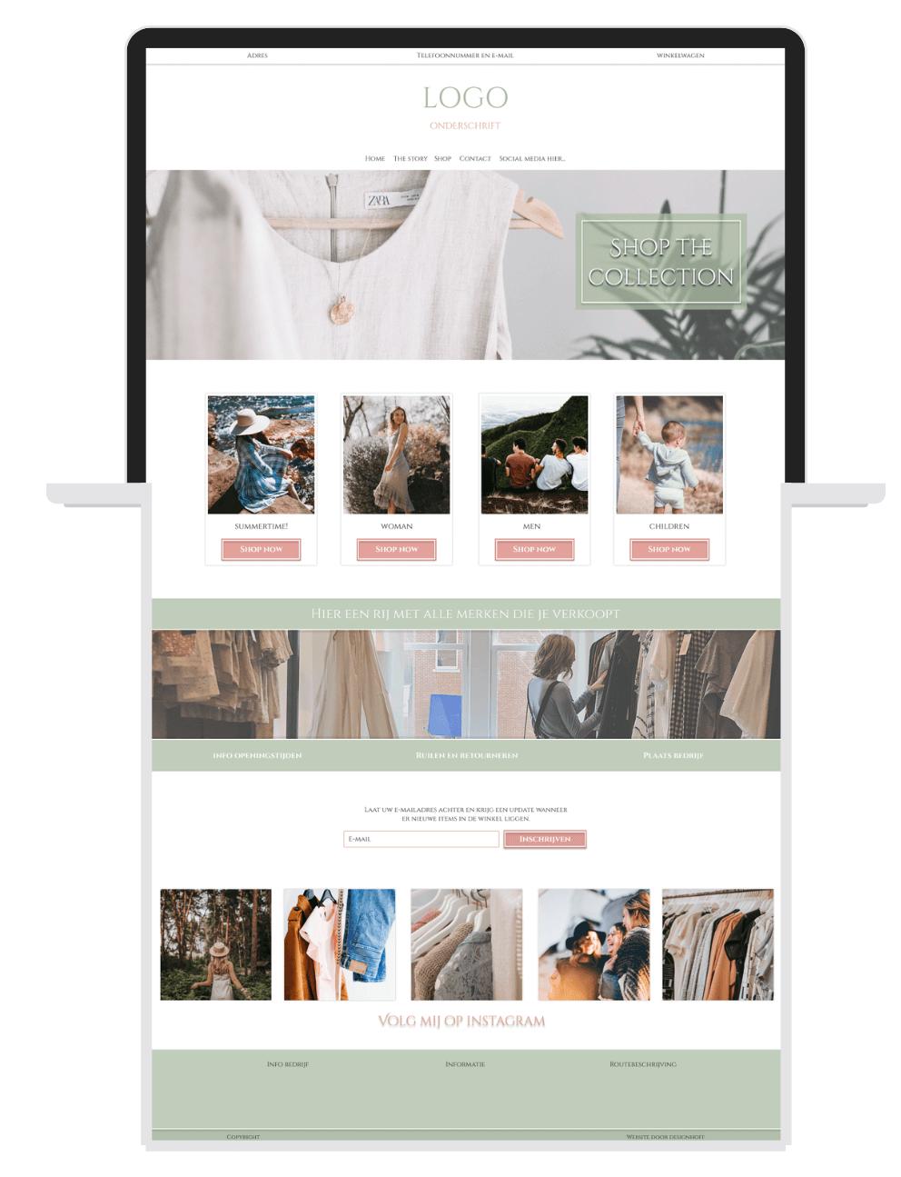 Voorbeeld webshop kleding Designhoff